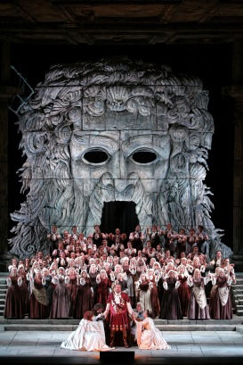 The final scene from Act II of MozartÕs ÒIdomeneo.Ó Photo: Marty Sohl/Metropolitan Opera