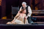 Met Opera's production of Juisa Miller with Betrand de Billy conducting, Sonya Yoncheva as Luisa, Piotr Beczala as Rodolfo and Plácido Domingo as Miller, 3/22/18. Photo by Chris Lee