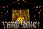 A scene from MozartÕs ÒDie Zauberflšte.Ó Photo: Cory Weaver/Metropolitan Opera Taken during the dress rehearsal at the Metropolitan Opera on September 16, 2009.