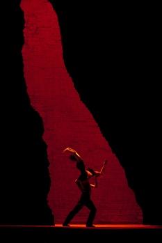 Maria Kowroski and Martin Harvey as solo dancers during the overture to Act I of BizetÕs ÒCarmen.Ó Photo: Ken Howard/Metropolitan Opera Taken at the Metropolitan Opera during the dress rehearsal on December 23, 2009.