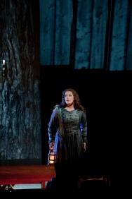 """Eva-Maria Westbroek as Sieglinde in Wagner's """"Die WalkŸre."""" Photo: Ken Howard/Metropolitan Opera Taken during the rehearsal on April 12, 2011 at the Metropolitan Opera in New York City."""