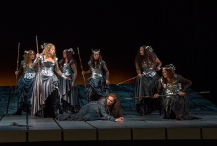 Photo: Die Walküre Richard Wagner; Philippe Jordan,Conductor, with Christine Goerke, Eva-Maria Westbroek, Jamie Barton, Stuart Skelton, Greer Grimsley & Günther Groissböck; dress rehearsal photographed: Monday, March 15, 2019; 10:30 AM at The Metropolitan Opera; New York, NY. Photograph: © 2019 Richard Termine PHOTO CREDIT - Richard Termine